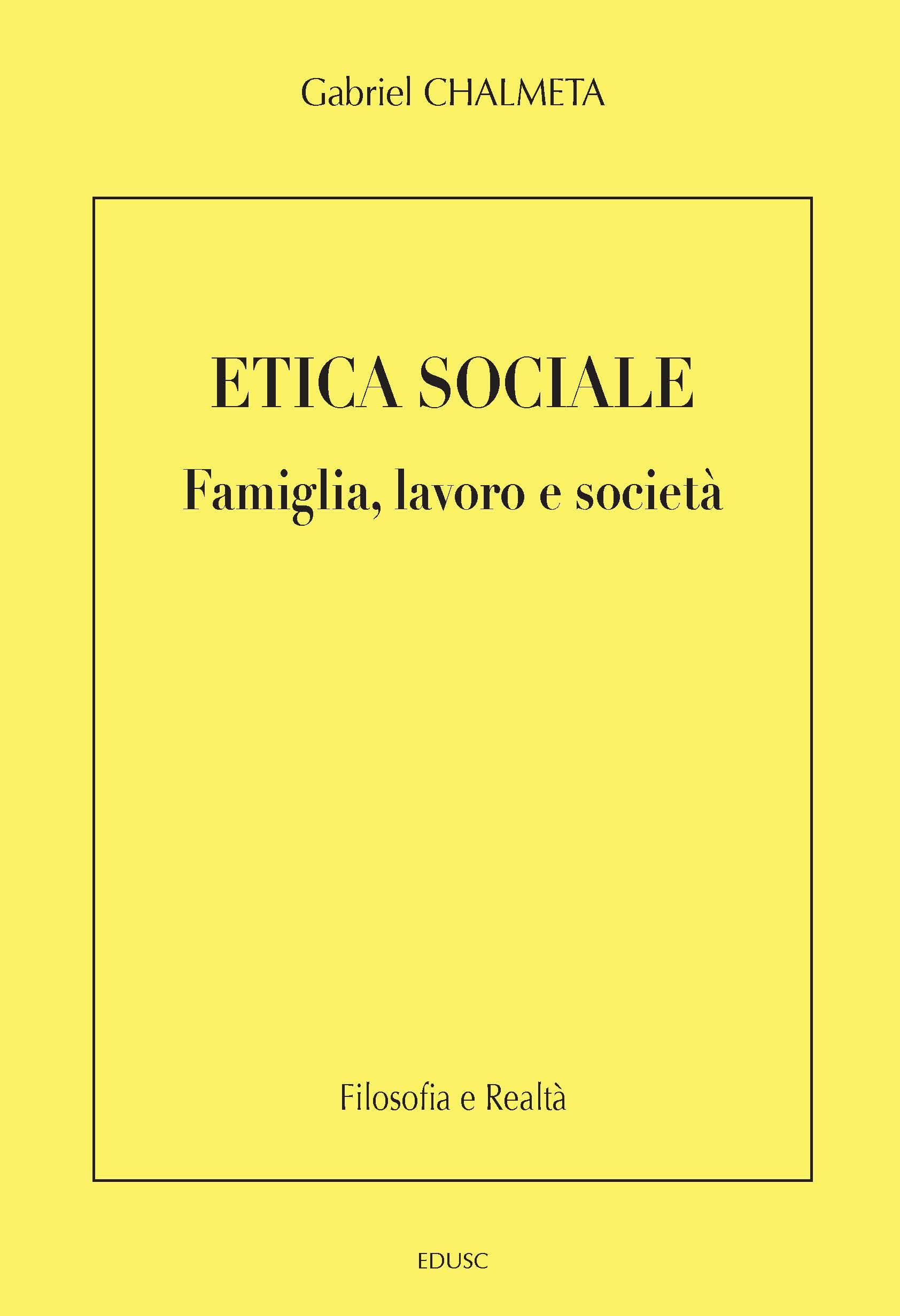 Etica Sociale cover
